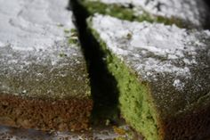 NOTE: HAS EGGS... so it's NOT vegan but is NON-DAIRY because the recipe calls for SOY milk, which is the important part for me.   Green Tea Cake on http://asianinamericamag.com