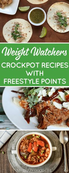 Weight Watchers Crockpot recipes with Freestyle points are the easiest way to stay on track with your healthy lifestyle goals! There's nothing better than throwing everything into the slow cooker and walking away to finish up your other daily tasks! Healthy Crockpot Recipes, Ww Recipes, Slow Cooker Recipes, Cooking Recipes, Weight Watcher Crockpot Recipes, Cooking Stuff, Whole30 Recipes, Slow Cooking, Skinny Recipes