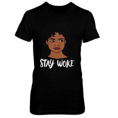 Stay Woke Hand Drawn Melanin Gift T-Shirt