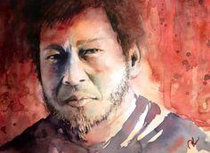 My teacher Watercolor Portraits, Artist, Teacher, Painting, Professor, Artists, Teachers, Painting Art, Paintings