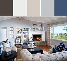 Nautical Living Room Designed By Wayfair via Stylyze