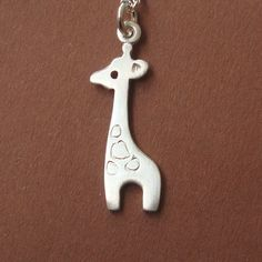 Small Giraffe Necklace Sterling Silver teens kids girl woman jewelry cute birthday gift Baby mom  for her spring easter. $30.00, via Etsy.