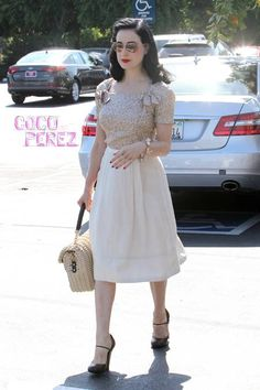 We wouldn't expect to see her in sweaty gym clothes!  Dita Von Teese was spotted leaving a West Hollywood pilates studio on Monday looking like she came straight out of a salon!  The burlesque...