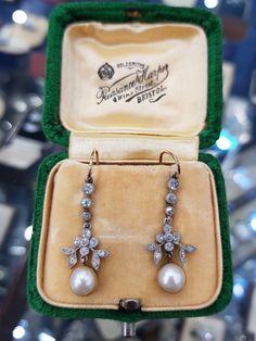 Sparkly Jewelry, High Jewelry, Pearl Jewelry, Edwardian Jewelry, Vintage Jewellery, Antique Jewelry, Diamond Rings, Diamond Cuts, Art Nouveau
