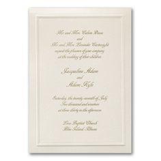 Just Right Wedding Invitation      40% OFF     http://mediaplus.carlsoncraft.com/Wedding/Wedding-Invitations/3150-FVT4190-Just-Right--Invitation.pro