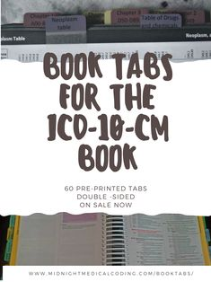 60 printed, multi-colored, double-sided tabs for the book. Includes- Tabs for each letter of the alphabet for the index. Tabs for each section of the tabular. Billing And Coding Certification, Medical Billing Training, Medical Coder, Medical Billing And Coding, Medical Transcription, Coding Jobs, Coding For Beginners, What Was I Thinking, Exams Tips