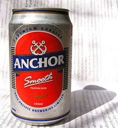 Anchor Beer. I think this one is Cambodian, could be Malaysian. If Carlsberg is like Budweiser, this one is like Milwaukees Best.