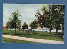 Postcard Hagues Park Vandercook Lake Jackson MI | eBay