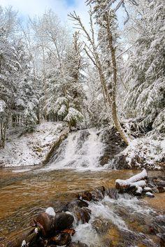 Early winter at Morgan Falls, Marquette, MI