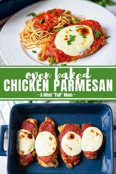 If you are looking for the best Chicken Parmesan recipe, look no further! This Parmesan Crusted Chicken is crispy, juicy, and full of incredible flavor, yet it is baked for a lighter version of this Italian Classic! Baked Parmesan Crusted Chicken, Chicken Parmesan Recipes, Baked Chicken Recipes, Lunch Recipes, Real Food Recipes, Cooking Recipes, Real Foods, Rice Recipes, Dinner Recipes