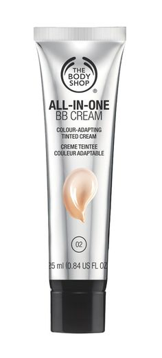 All in one bb cream by The Body Shop. Cream that can suit your skin tone color, pigmentedd filled capsules burst when apply to skin, blend for a perfect match and ene even undetectable finish, 24 hour hydration. Make up and skincare in one. http://www.zocko.com/z/JFRRG