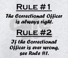 CORRECTIONAL OFFICER RULES