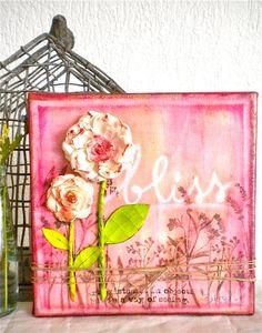 Bliss  Original Mixed Media Painting par Shirel sur Etsy, €40,00