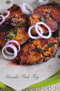 Masala Fish Fry – with a coconut and chill paste marinade – Non Veg - Fish Recipes Fish Dishes, Seafood Dishes, Seafood Recipes, Chicken Recipes, Cooking Recipes, Cooking Fish, Veg Dishes, Prawn Recipes, Cooking Broccoli