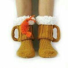 Socks for men. Knit socks Beer & shrimp socks mens socks beer glass socks Man sock Woman socks Knit Socks Handmade gift Wool Socks - Carmen Werner - Make-Up Knitting Socks, Hand Knitting, Knitting Patterns, Crochet Patterns, Knit Socks, Beer Socks, Diy For Men, Warm Socks, Crochet Slippers