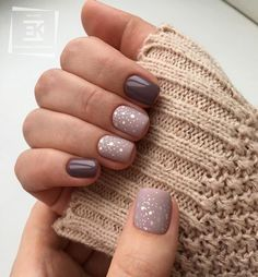 The over 20 trendiest autumn nail colors + autumn nails inspiration- # 20 . - The over 20 trendiest fall nail colors + fall nails inspiration- # 20 … - Winter Nail Designs, Colorful Nail Designs, Simple Nail Designs, Nail Color Designs, Heart Nail Designs, Nail Design Glitter, Glitter Gel Nails, Acrylic Nails, Nails Design