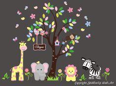 Nursery Wall Decal Baby Girl Wall Decal by StickEmUpWallArt, $205.00