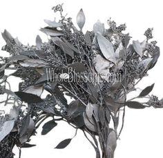 Silver Flowers | Buy Silver Flowers Online | Silver Rose | Silver Thistle Dye Flowers, Fall Flowers, Silver Flowers, Fresh Flowers, Blue Succulents, Fall Mums, Thistle Flower, Rose Centerpieces, Star Of Bethlehem