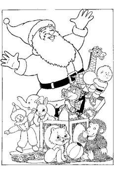 Coloring Page Christmas Santa Claus