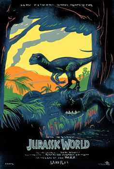 The story is based on a dinosaur which is created at Jurassic World, which is a theme park, located on an island, called Isla Nublar, which was the site of the original Jurassic Park. The Jurassic World contain so many species of Dinosaurs' clones. Jurassic World Poster, Jurassic World Wallpaper, Jurassic Park Film, Jurassic World Dinosaurs, Jurassic Park World, Science Fiction, Dino Park, Gravure Illustration, Free Poster Printables
