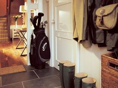 Golf Bags and Wellies