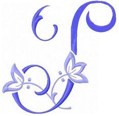 Alfabeto con Flor de Lis bordada  Oh my Alfabetos  TP Blanco y