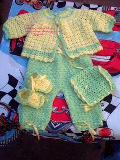 Croche pro Bebe: los trabajos terminados.