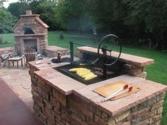 """Excellent """"built in grill ideas"""" info is offered on our internet site. Check it out and you wont be sorry you did. Outdoor Kitchen Patio, Outside Patio, Outdoor Kitchen Design, Backyard Patio, Outdoor Kitchens, Campfire Grill, Fire Pit Grill, Bbq Grill, Wood Grill"""