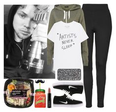 """""""Lazy day with Ashton. -----> *Cynthia."""" by imaginegirlsdsos ❤ liked on Polyvore featuring Topshop, NIKE and Trish McEvoy"""