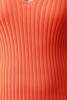 Ribbed Knit Deep V Sleeveless Dress