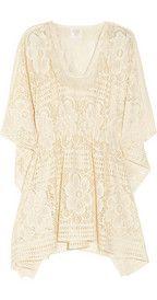 bohemian chic fashion ivory lace crochet tunic