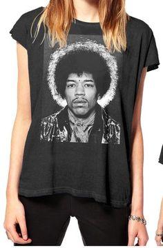 f7ee0f8f355 Buy Jimi Hendrix halo portrait Tee-MKF002-149BLK