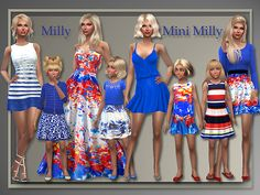 Summer Designer Clothes   Mini for kids at All About Style • Sims 4 Updates