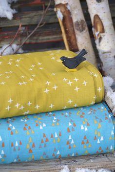 Birch - Bio Double Gauze - Wink - Marigold - 4 Marigold, Sunglasses Case, Fabrics, Design, Tejidos, Cloths, Fabric, Textiles