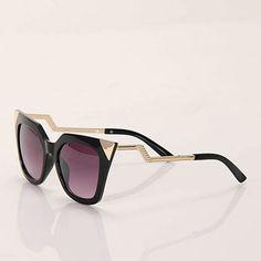 Óculos de Sol Proteção UVA/UVB Feminino Acessórios by Passarela - Preto