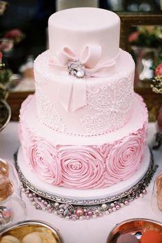 Pale Pink Wedding Cake / http://www.deerpearlflowers.com/40-romantic-pink-wedding-ideas-for-springsummer-wedding/ #pinkweddingcakes