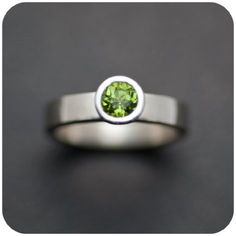 Peridot and sterling silver ring--perfectly simple.