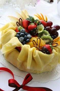 Valentine's Day crepe cake
