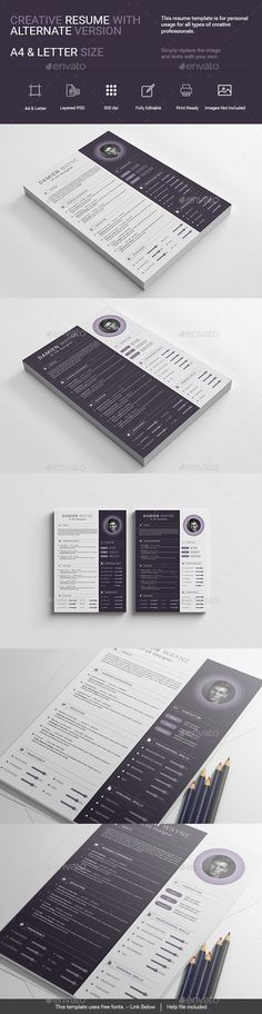Modern \ Elegant Resume Resume cv and Print templates - photoshop resume templates