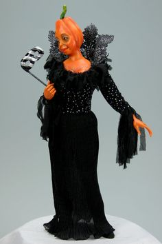 Halloween Masquerade. One-Of-A-Kind doll from Creatures Gallery. Artist Tanya Abaimova