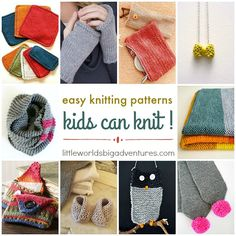 Easy Knitting Patterns Kids can Knit
