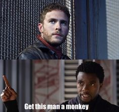 "YES YES YES! BLESS THE PERSON WHO MADE THIS ""get this man a monkey"""