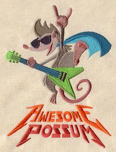 Awesome Possum design (UT5533) from UrbanThreads.com