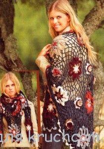 Вязание шали и платков крючком - подборки, модели, фото – Страница 2 из 5 : Kruchcom.ru Bohemian, Style, Fashion, Swag, Moda, Fashion Styles, Fashion Illustrations, Boho, Outfits