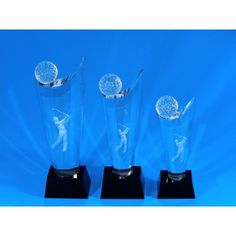 We've got some great gold trophies for our golfing enthusiasts.  Have a look at this Andrews range and don't forget to visit the website for a whole lot more of what we have. Golf Trophies, Trophies And Medals, 3d Laser, Some Ideas, Laser Engraving, Don't Forget, Range, Website, Crystals