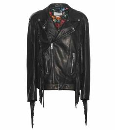 Leather biker jacket | Gucci