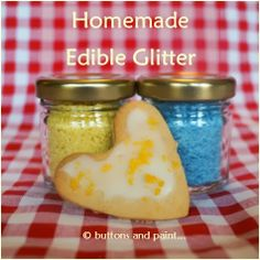 buttons and paint...: Tips, Tools & Techniques - Homemade Edible Glitter