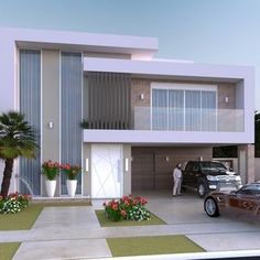 Discover recipes, home ideas, style inspiration and other ideas to try. House Outer Design, Modern Small House Design, Modern Exterior House Designs, Small Modern Home, Bungalow House Design, Modern Architecture House, Modern House Plans, Modern Houses, Architectural House Plans