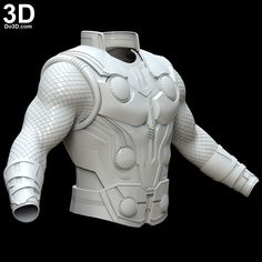 Printable Model: Thor Vest Armor, Arm, Gauntlet from Avengers Infinity War Thor Costume, Thor Cosplay, Spiderman Cosplay, Captain America Cosplay, Captain Marvel, Thor Ragnarok Hela, Thor 1, 3d Printable Models, Character Modeling