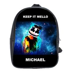 FORTNITE MARSHMELLO EVENT LEATHER XL BACKPACK Marshmello Alone, Dj Marshmello, Battle Royale, Game R, Cool Backpacks, First Day Of School, One Pic, Gifts For Kids, Leather Backpack